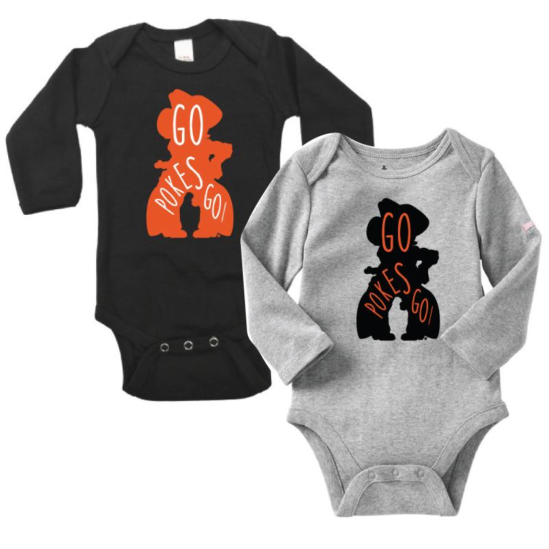 f46b7b13c Go Pokes Go! Infant Long Sleeve Onesie - DuPree Sports